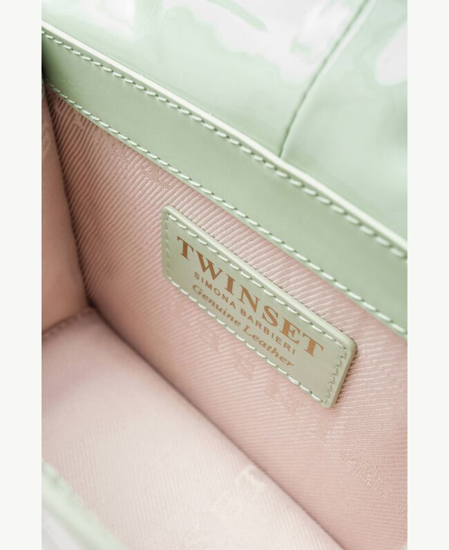 TWINSET Patent leather shoulder bag Fern Green Female OA7TJB-04