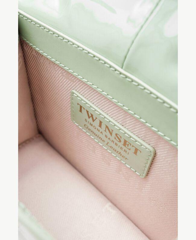 TWINSET Umhängetasche aus Lackleder Grüne Farn OA7TJB-04
