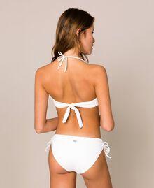 Bikini bottom with drawstring and laces Ivory Woman 201LBM199-03