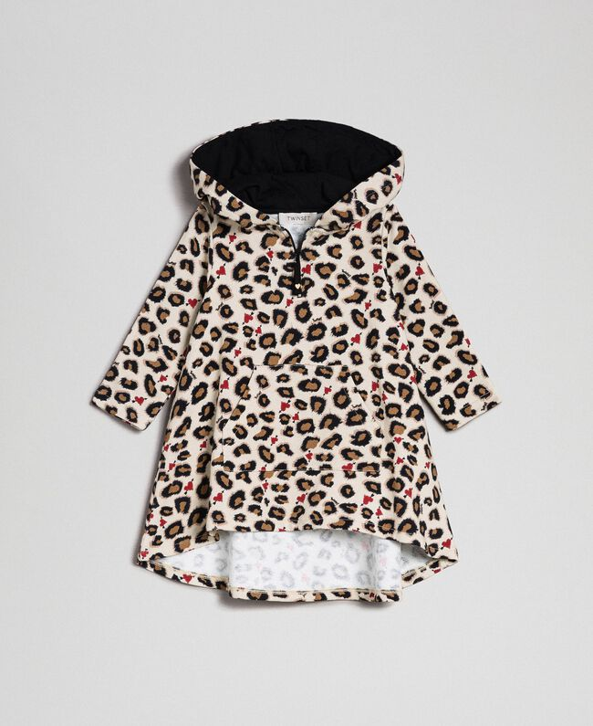 Animal print dress with hearts Leopard Print Child 192GB2330-01