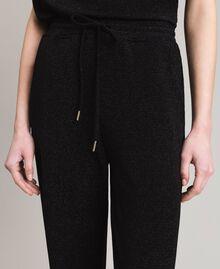 Pantalon de jogging en jersey de lurex Noir Femme 191MP2026-05