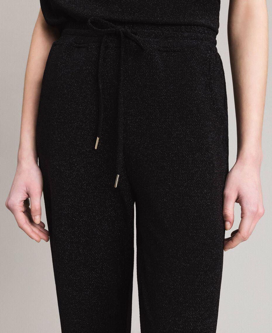 Jersey lurex jogging trousers Black Woman 191MP2026-05