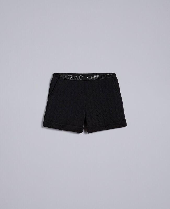 Shorts aus Sweatstoff mit Steppmotiv Schwarz Kind GA82NQ-01