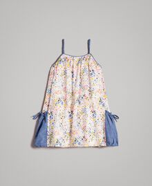 Muslin dress with print Mini Stars Print Child 191GB2531-0S