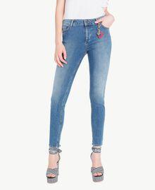 Skinny-Jeans Denimblau Frau JS82V2-01
