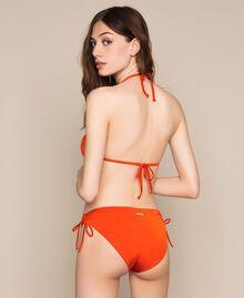 "Bikini bottom with drawstring and laces ""Ace"" Orange Woman 201LBMC99-03"
