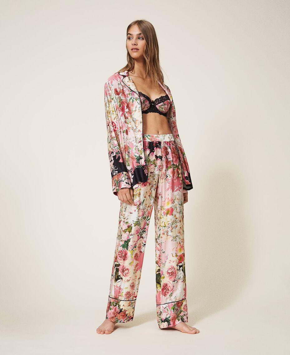 Pantalón de raso estampado Estampado Animal print Mujer 202LL2EFF-02