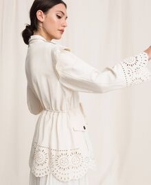 "Canvas jacket with broderie anglaise ""Dune"" Beige Woman 201TP2011-02"