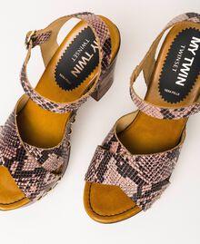 Animal print faux leather clog sandals Wild Rose Python Print Woman 201MCT01C-03