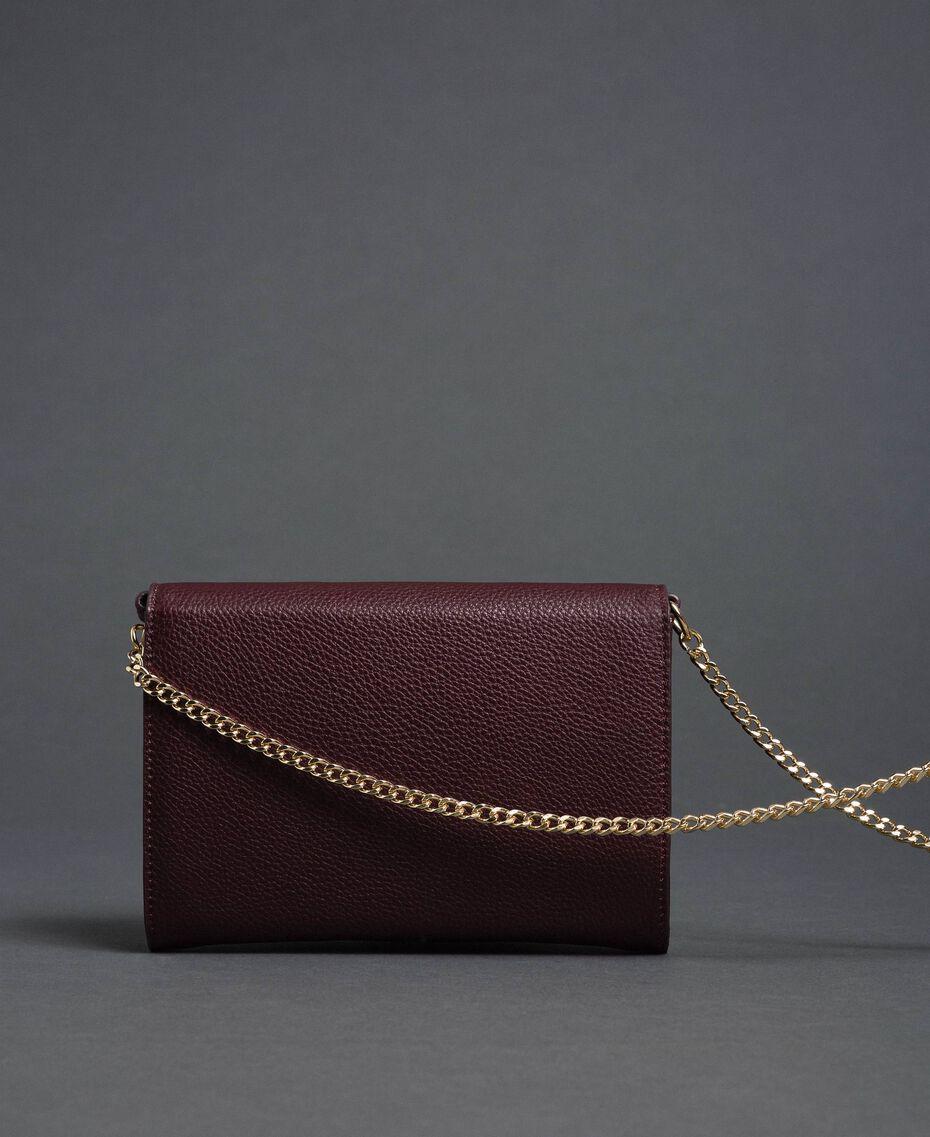 Petit sac à bandoulière avec fermoir papillon Rouge Betterave Femme 192TA7022-02