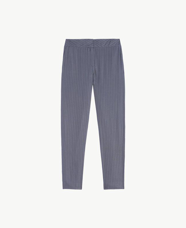 Pantalon rayures Gris Rayé Femelle LA7GJJ-01