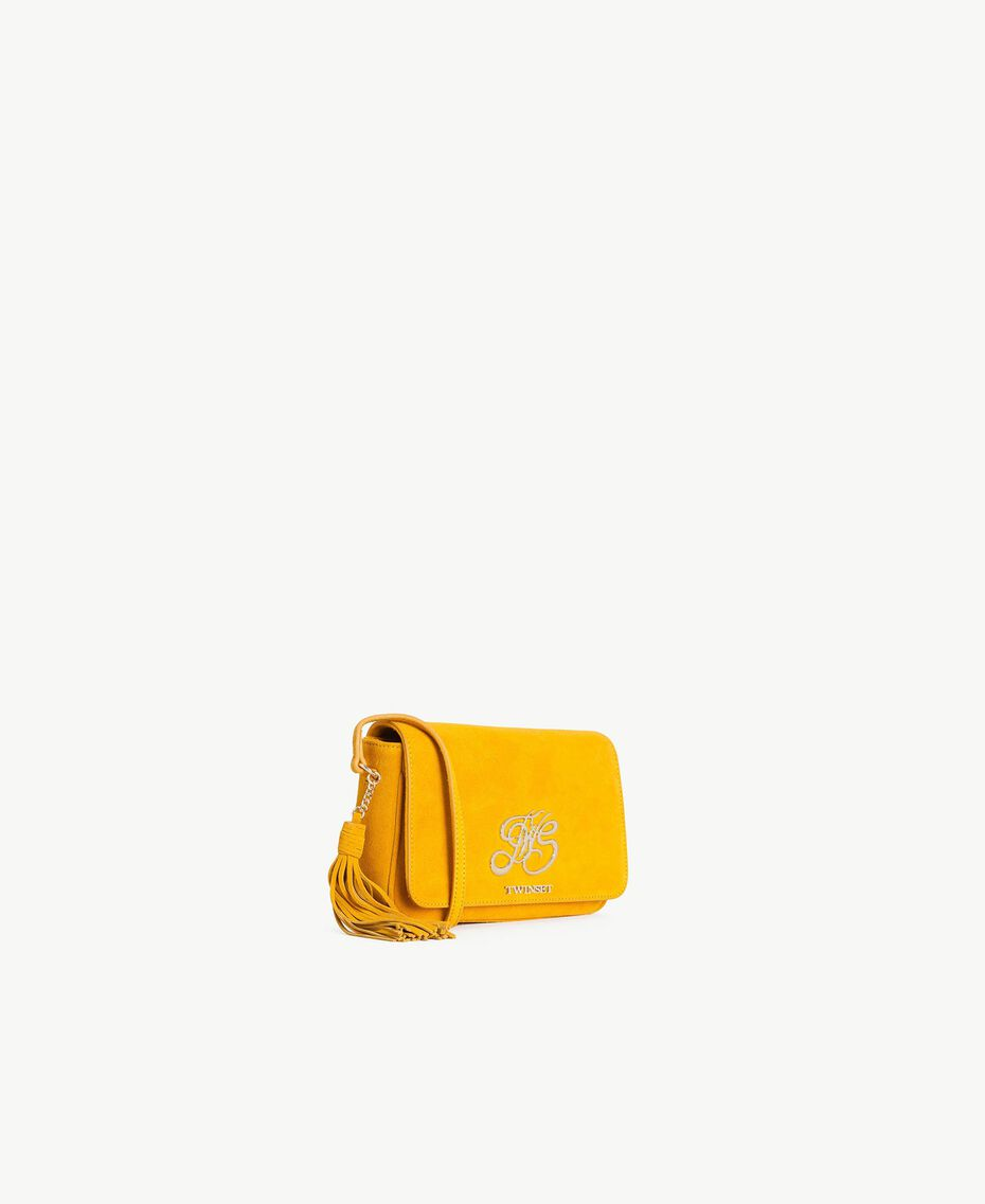 TWINSET Logo shoulder bag Ochre Yellow Woman OS8TEA-02
