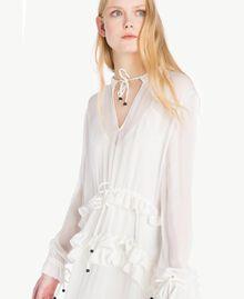 Ruched mini dress Parchment White Woman JS82NC-04
