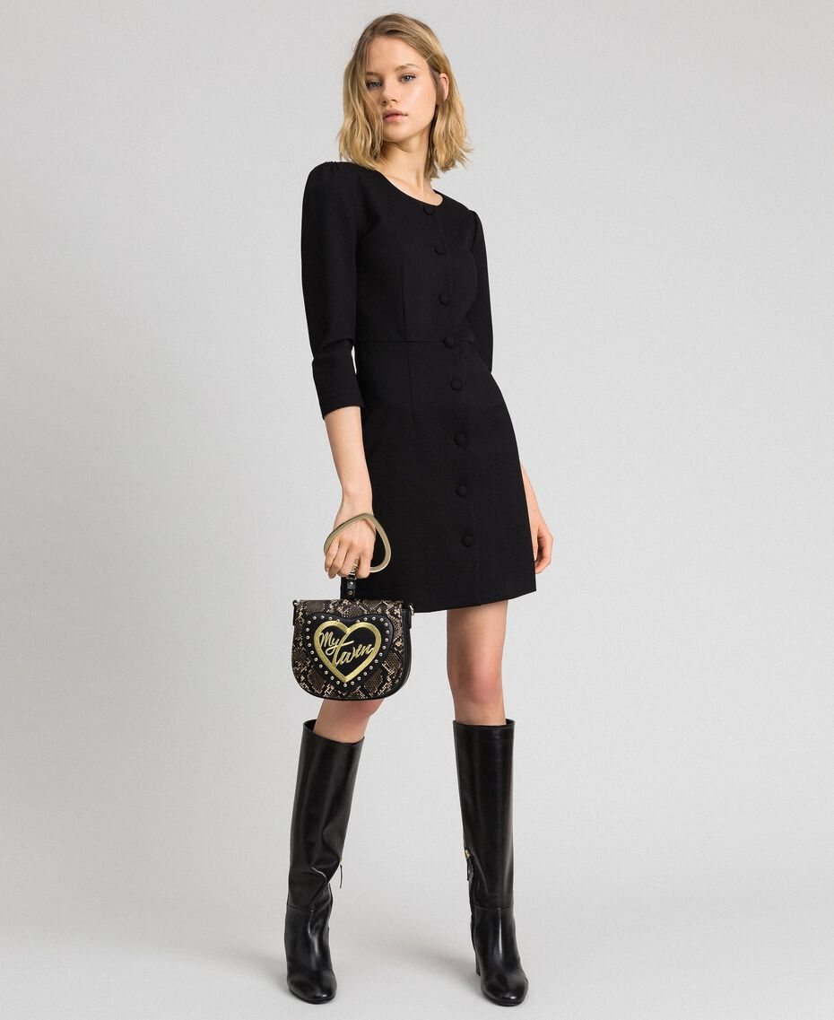 Robe fourreau avec boutons recouverts Noir Femme 192MP2179-0T
