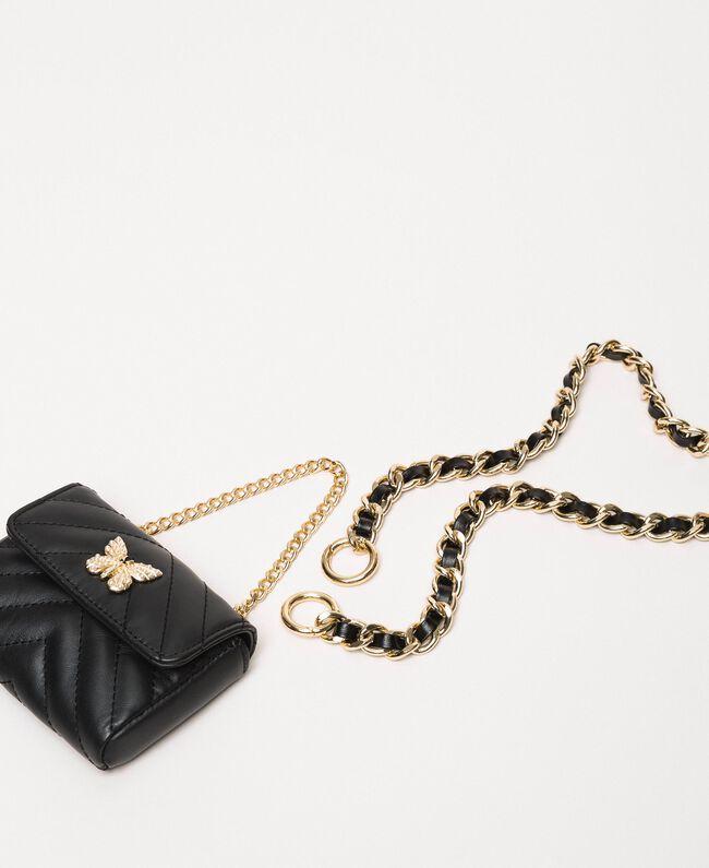 Цепочечный пояс с сумочкой Серый Титан женщина 201TA4347-01