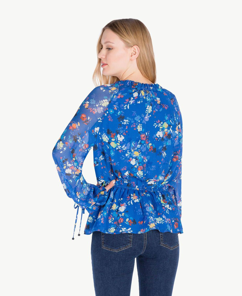 Printed blouse Multicolour Lapis Blue Flowers Woman JS82NN-03