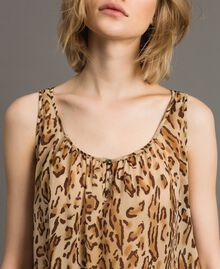 "Animal print top ""Petra Sandstone"" Brown Animal Print Woman 191LM2UDD-05"