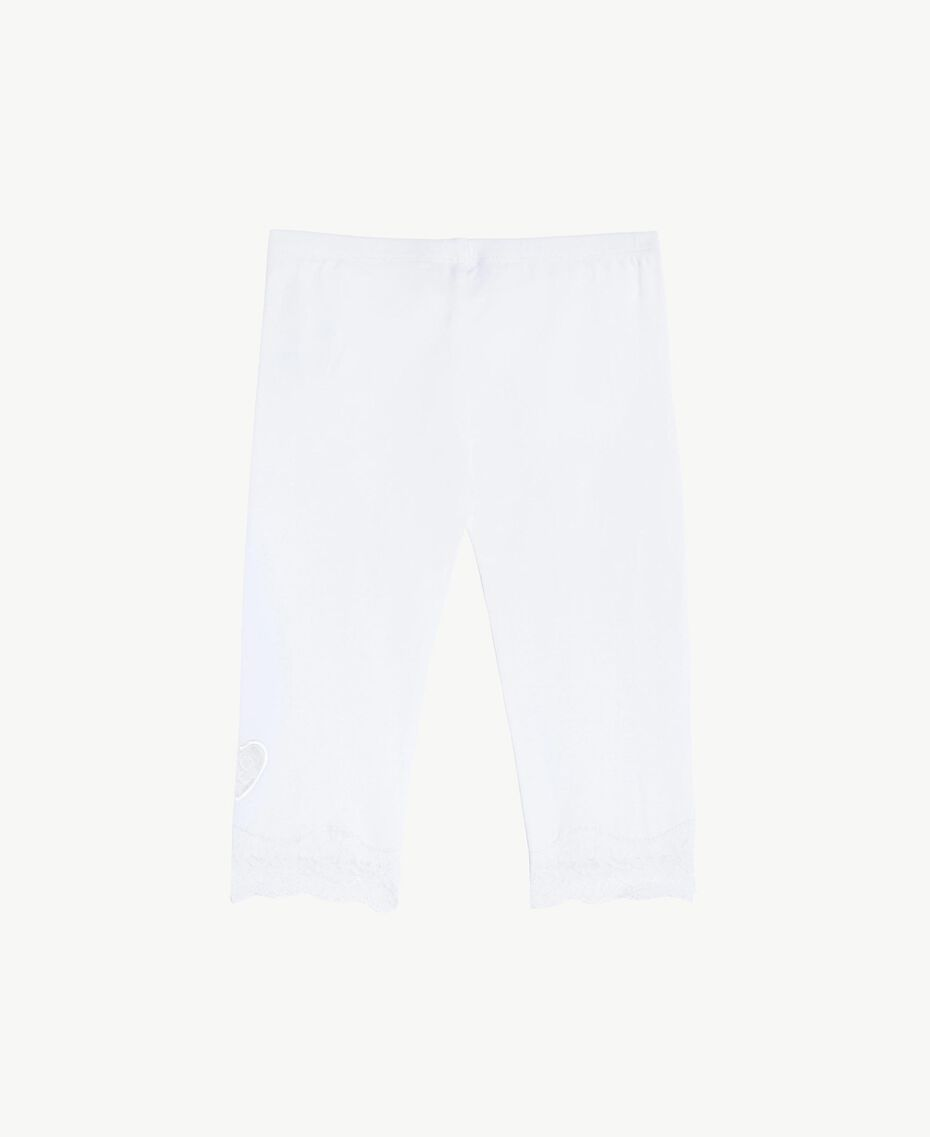 """Lace leggings """"Papers"""" White Child FS82BB-02"""