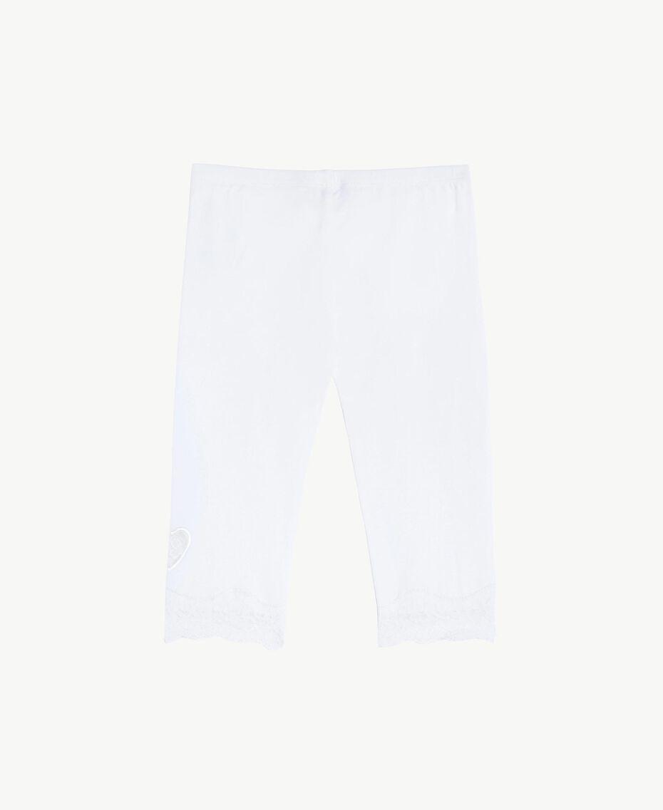 """Legging dentelle Blanc """"Papers"""" Enfant FS82BB-02"""