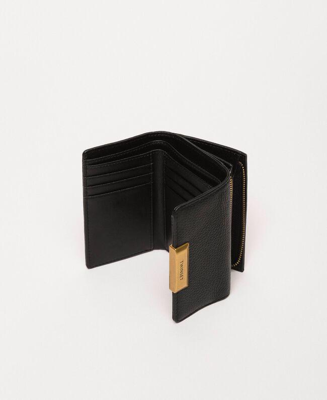 Mittelgroße Bea Bag Geldbörse aus Leder Schwarz Frau 201TA7033-04