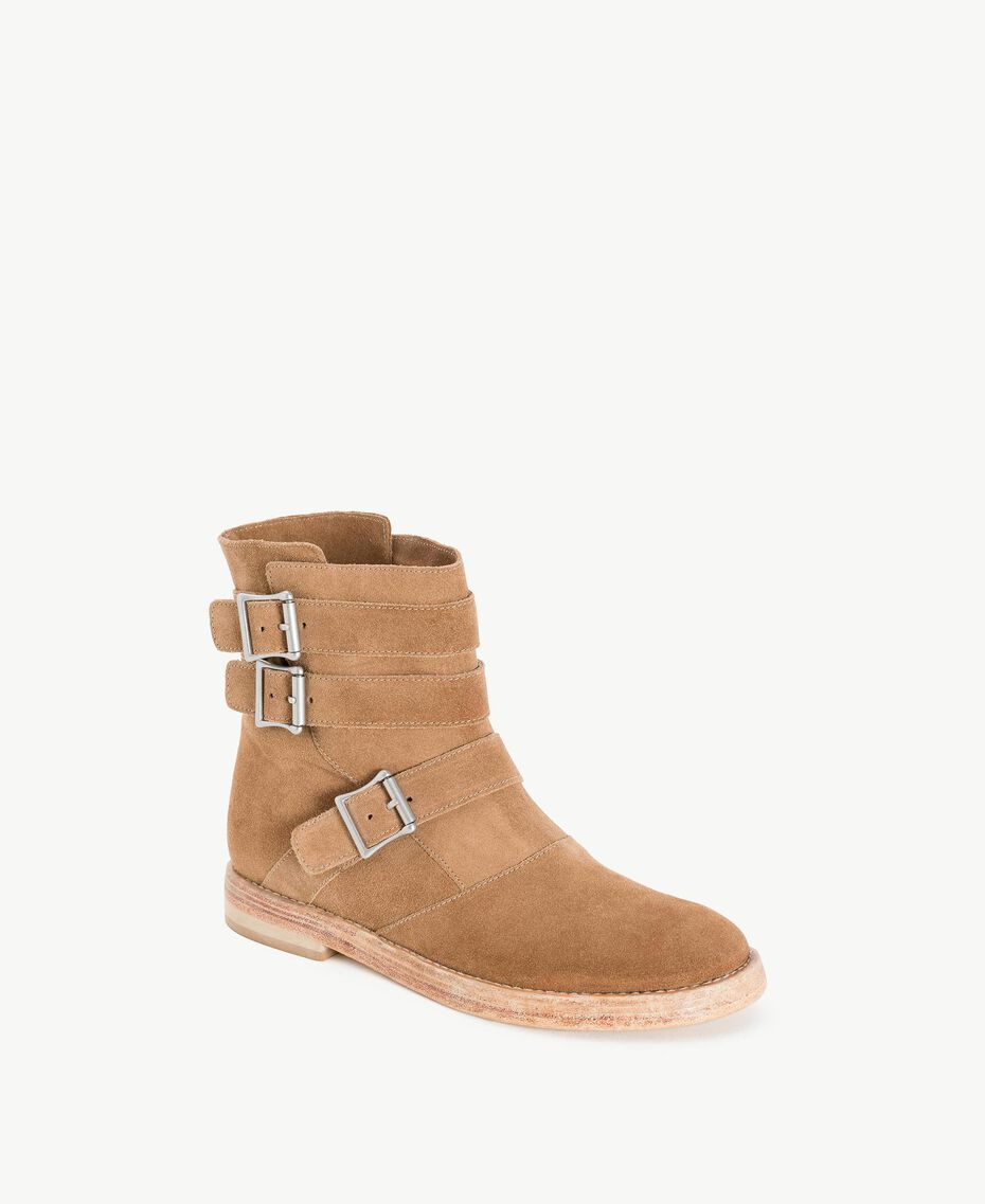 TWINSET Buckle biker boots Ecrù Woman CS8PDC-02