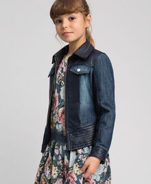 Giacca in jeans e similpelle Blue Night Bambina 192GJ2050-02