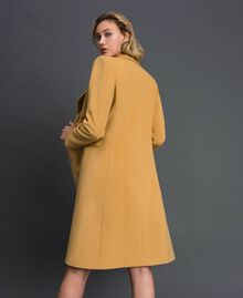 "Double breasted wool cloth coat ""Gold Camel"" Beige Woman 999TT2030-04"