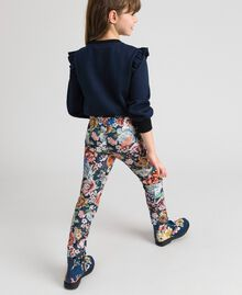 Scuba trousers with floral and graffiti print Graffiti Print Child 192GJ2494-02