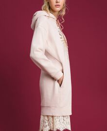 Oversize sweatshirt with print in front Bud Pink Woman 192TT2130-03