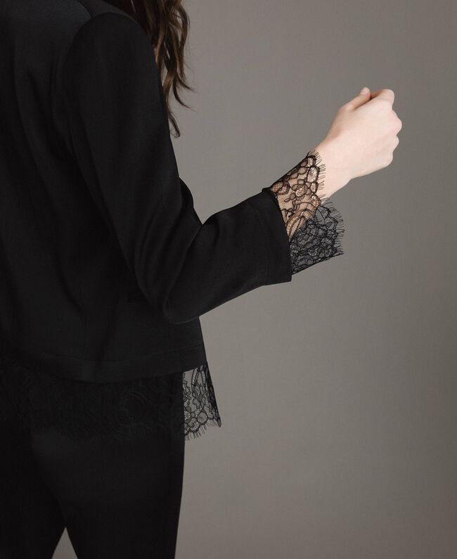 Lace blazer Black Woman 191TP2731-04