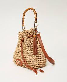 Weaved raffia bucket bag Straw Woman 211TD8241-01