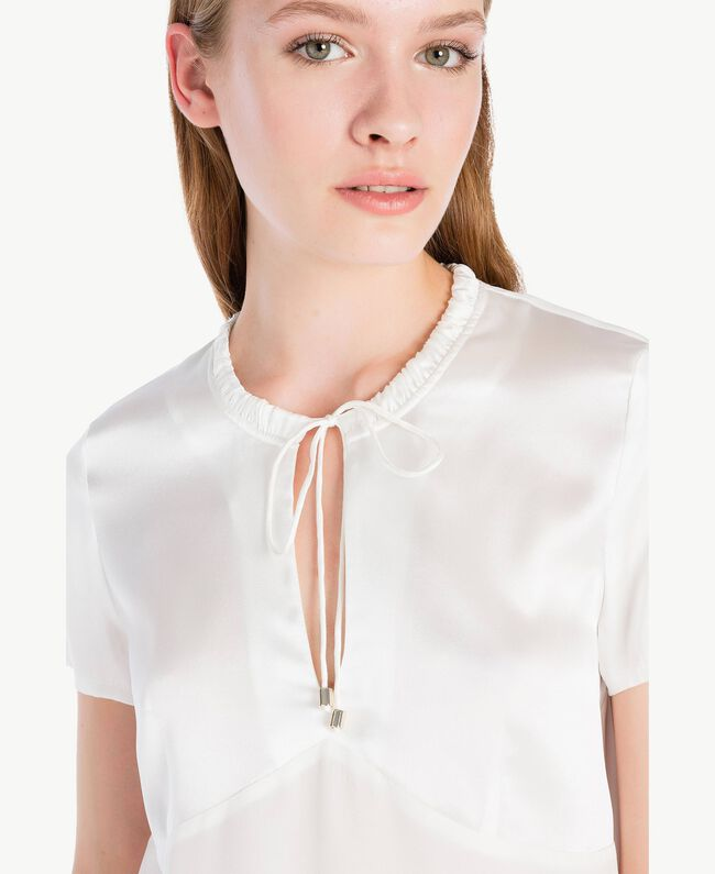 Silk blouse Off White Female TA72F4-04