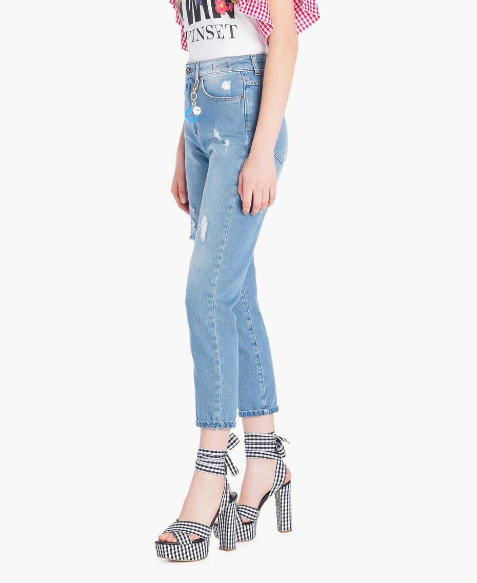 Vaqueros de talle alto Denim Azul Mujer JS82WN-02