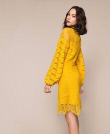 Robe en dentelle macramé Miel Femme 201TP2031-05