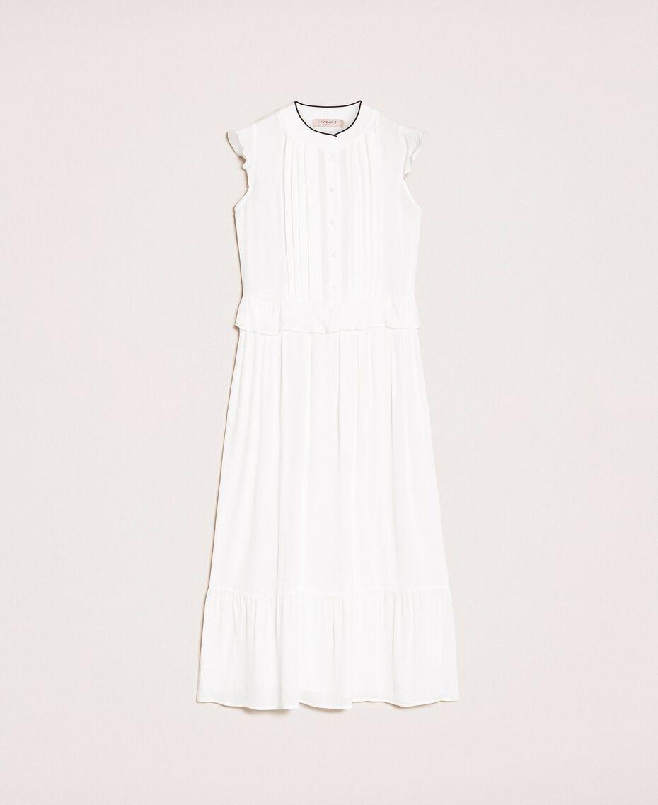 Crêpe de Chine long dress Ivory Woman 201TP2390-0S