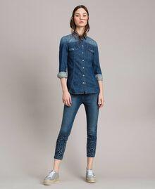 Camicia in denim con ricamo Denim Blue Donna 191MP2411-0T