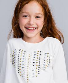 T-shirt en coton avec cœur Off White Enfant GA82FV-0S