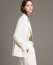 Linen blend blazer White Snow Woman 191TP2203-02