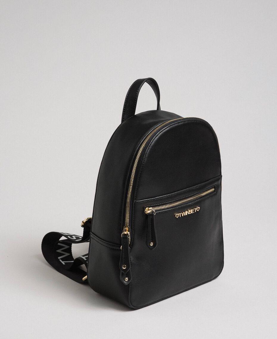 Рюкзак из искусственной кожи с логотипом Черный Pебенок 999GJ7017-01