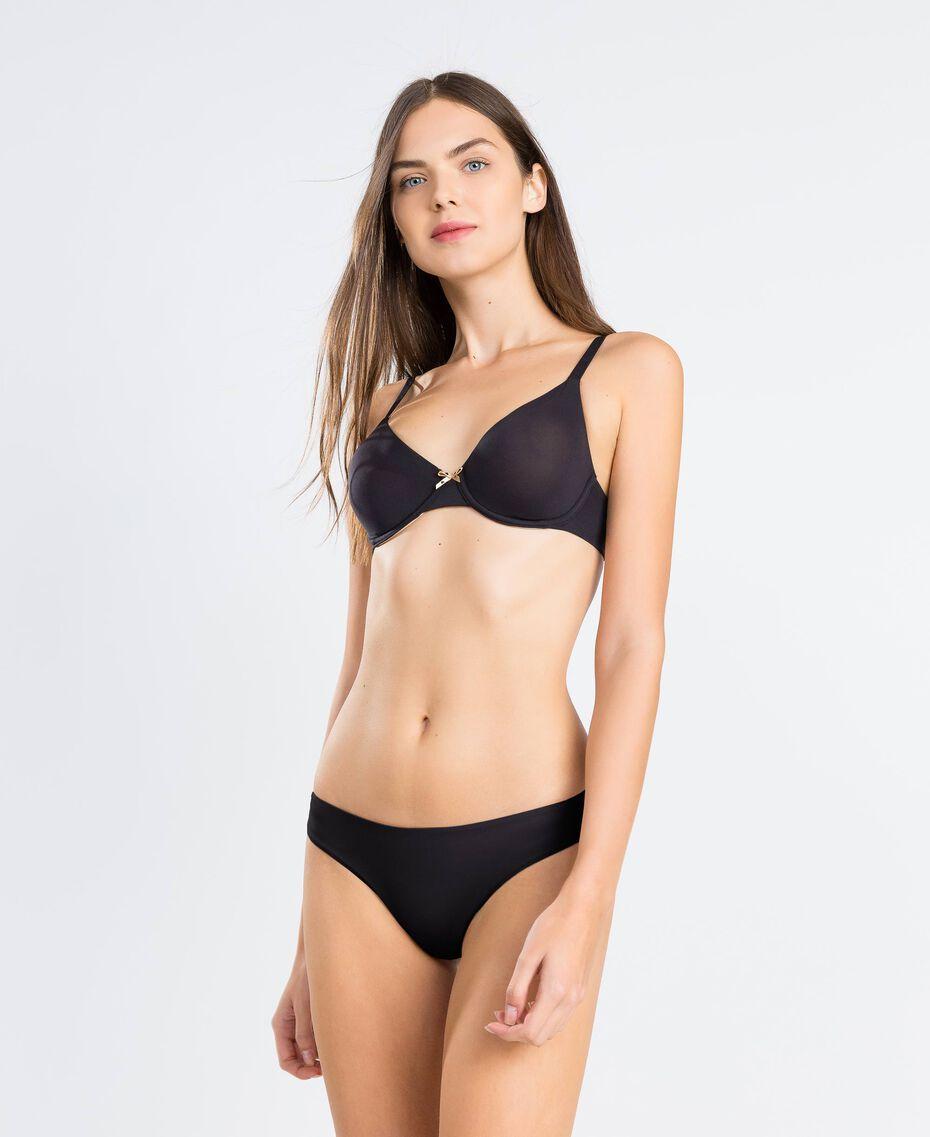 Brazilian-Slip Schwarz Frau LCNN77-0S