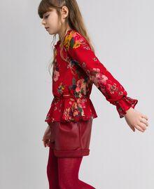 Blouse en crêpe georgette avec imprimé floral Imprimé Fleurs des Champs Grenadier Enfant 192GJ2591-02