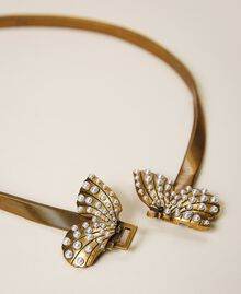 """Jewel belt with butterfly and pearls """"Aged Coppery Brass"""" Gold Woman 202TA4306-01"""