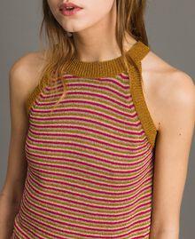 Top rayé en lurex Rayures Multicolore Lurex Rose Femme 191TT3121-01