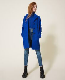 Пальто из сукна Темно-васильковый Pебенок 202GJ2840-0T
