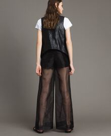 Organza palazzo trousers Black Woman 191MT2132-03