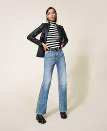 Faux leather blazer Black Woman 202MP2092-0T