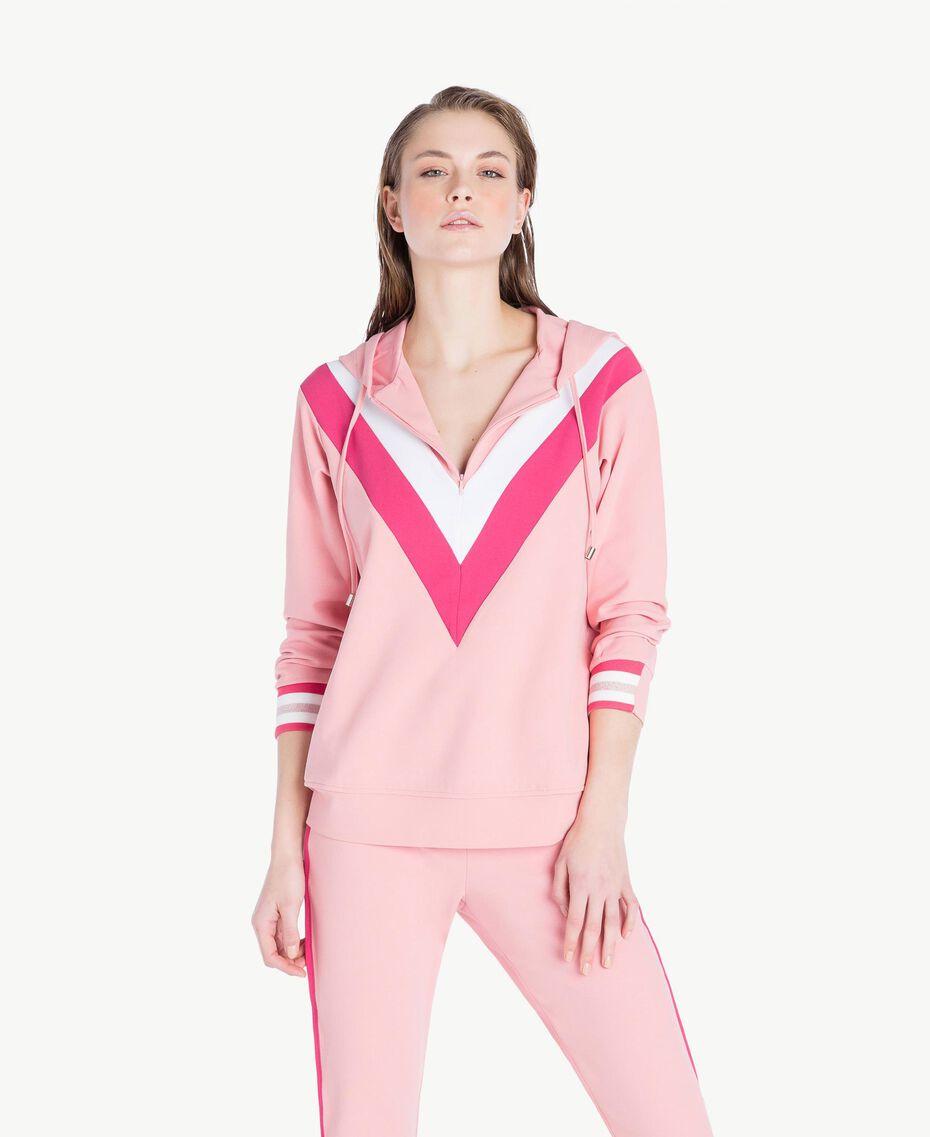 Sweatshirt aus Scuba Pinkie Sugar Frau LS82BB-02