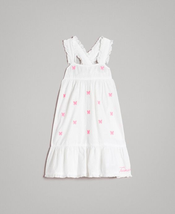 Plumetis dress with embroideries