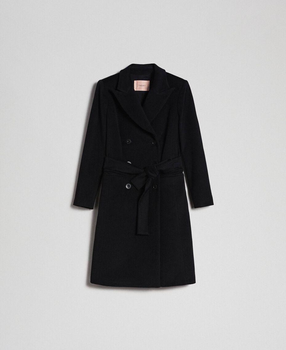 Manteau croisé en drap Beige «Camel Doré» Femme 999TT2030-0S