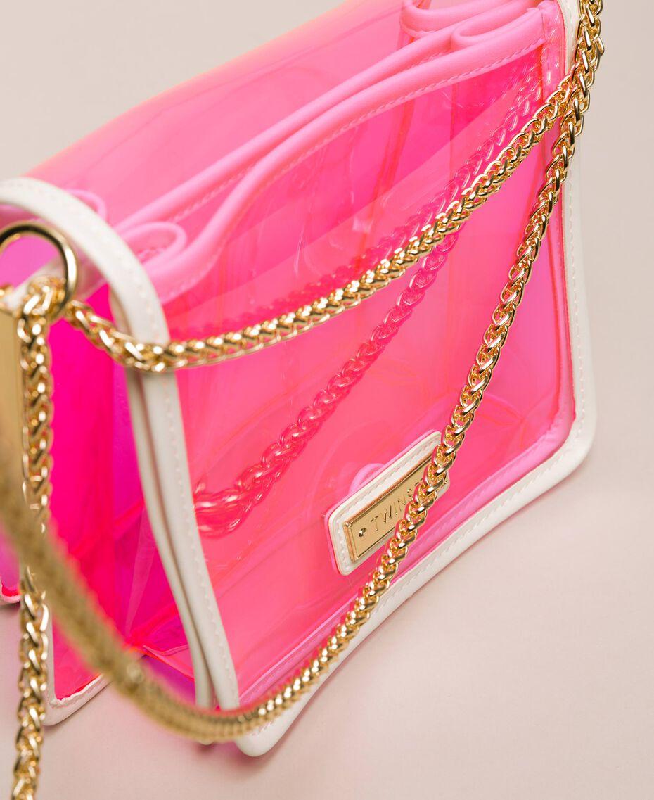 Bea Bag en PVC avec chaîne à bandoulière Fuchsia Fluo Femme 201TO8200-02